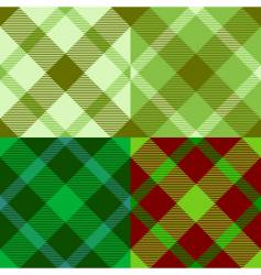 Irish tartan pattern vector