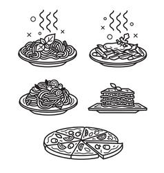 Italian cuisine vector