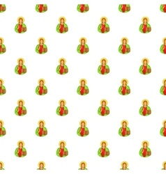 Jesus Christ pattern cartoon style vector