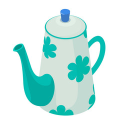 kettle decorative icon isometric 3d style vector image