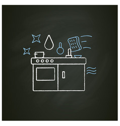 Kitchen cleaning chalk icon vector