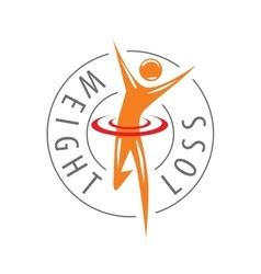 logo running man for weight loss vector image