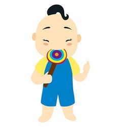 lollypop kid vector image