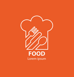 Modern minimalistic logo of food vector