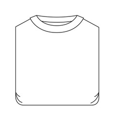 Monochrome silhouette of man t-shirt folded vector
