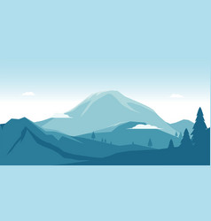 mountain with landscape view and blue panoramic vector image