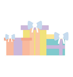 nice presents gifts to merry christmas celebration vector image