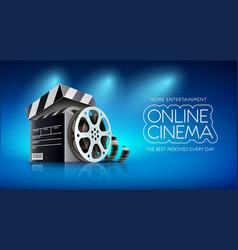 online cinema banner for web vector image