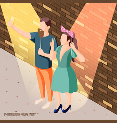 photo booth props background vector image