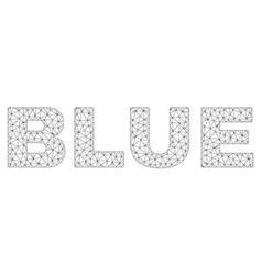 Polygonal carcass blue text label vector