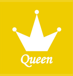 queen background with crown stock vector image