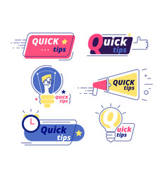 Quick tip tricks quick tips solution logos vector
