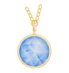 sapphire pendant mockup realistic style vector image