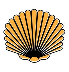 Seashells shellfish flat colours icon for apps vector
