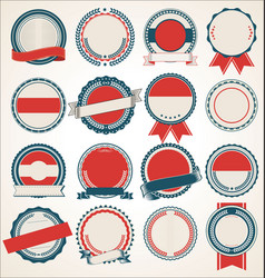 Set blank retro vintage badges collection 9 vector