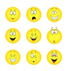 set of smileys vector image