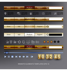 set of WEB design elements templates vector image vector image