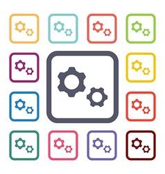 settings flat icons set vector image
