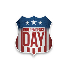 shield for independence day celebration vector image
