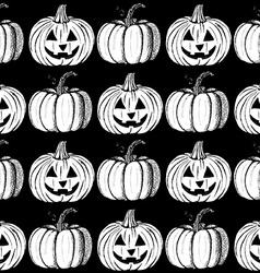Sketch Halloweens pumpkins vector image