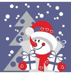 Snowman color 21 vector image