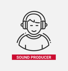 sound producer - line design single isolated icon vector image