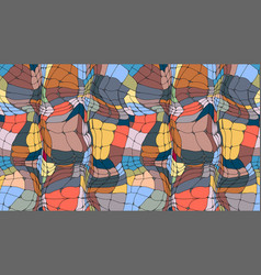 stained glass texture abstract colorful mosaic vector image