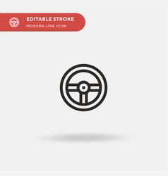 steering wheel simple icon vector image