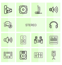 stereo icons vector image