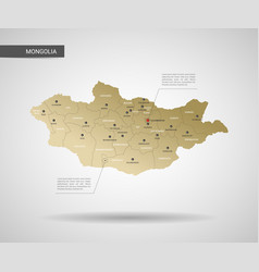 Stylized mongolia map vector