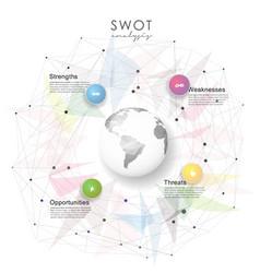 swot - strengths weaknesses opportunities vector image