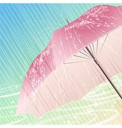 The spring rain vector