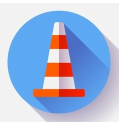 Traffic cone color icon under construction symbol vector image