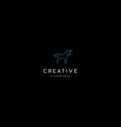 Unicorn animal creative logo design vector