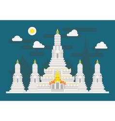 Wat Arun Thailand temple vector