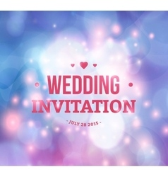 Wedding card or invitation with abstract vector image