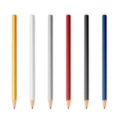 Wooden sharp pencils vector
