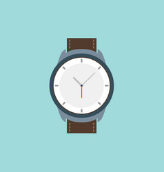 Wrist watch icon wristwatch hand clock vector