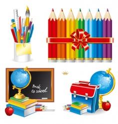 back to school set illustration vector image vector image