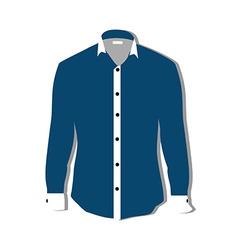 Blue shirt vector