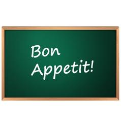 Bon Appetite sign vector image