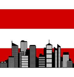 city and flag of austria vector image vector image