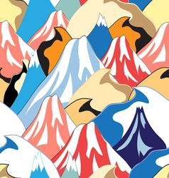 color pattern of the mountains vector image