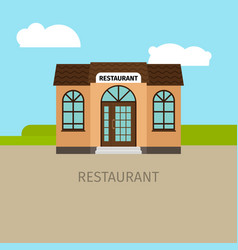 colored restaurant building vector image vector image