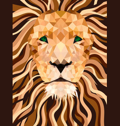 lion from shapes low poly face vector image