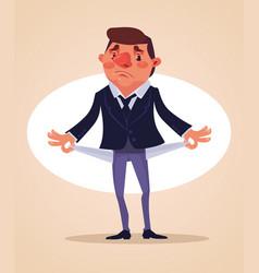poor office worker character vector image