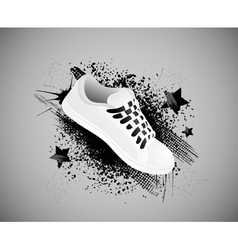 sports shoes background vector image vector image