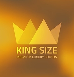 Abstract crown vector image