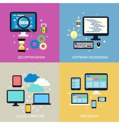 Business process concept flat vector