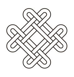 celtic knot geometric ancient cross tribal vector image